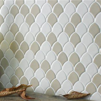 Gạch mosaic gốm Fish Scale RYG055ML